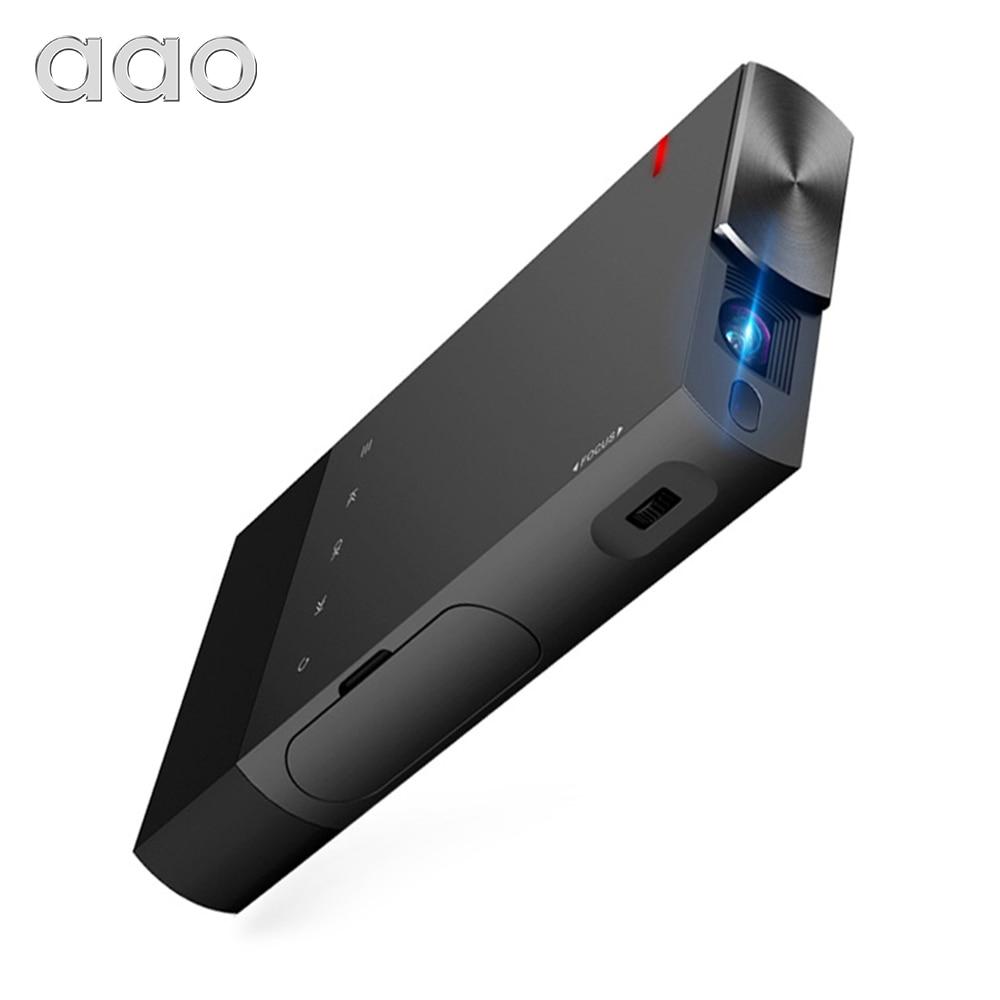 Портативный мини-проектор AAO, 5200 мАч, DLP A1, S1, 2000 люмен, синхронизация с проводным дисплеем для телефонов IOS, Android, 1080P, домашний кинотеатр, HDMI, USB