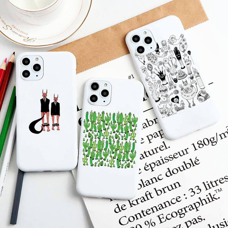 Polly nem pintura arte suave estojo de telefone para iphone 11 pro max x xs max xr doces cor capa macia para iphone 7 8 6 6s plus