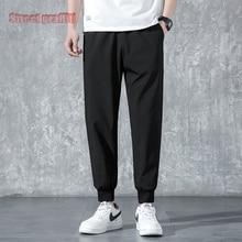 Pantalones de chándal informales para hombre, ropa de calle para Fitness, a la moda, tobilleros, primavera, 2021