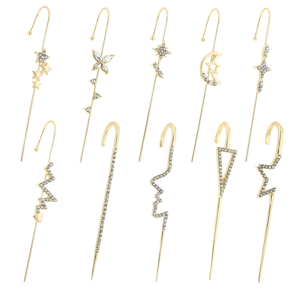 Серьги-бабочки для пирсинга, серьги-крючки на гусеничном ходу, серьги-каффы для женщин, серьги-крючки, серьги, модные ювелирные изделия
