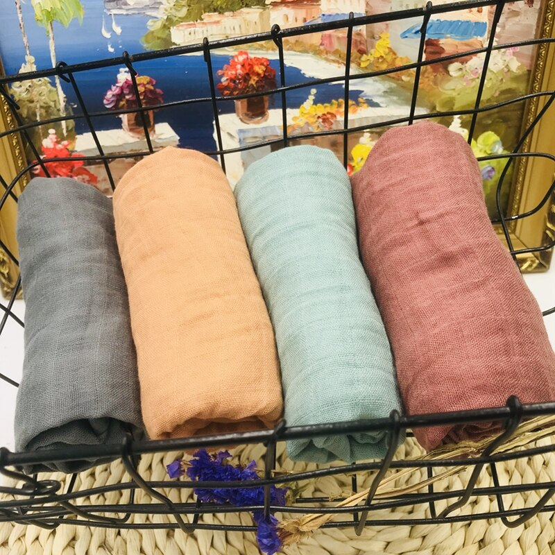 60*60cm 70% bamboo muslin diaper baby swaddle baby muslin blankets quality better than cotton Baby Multi-use Blanket Infant Wrap