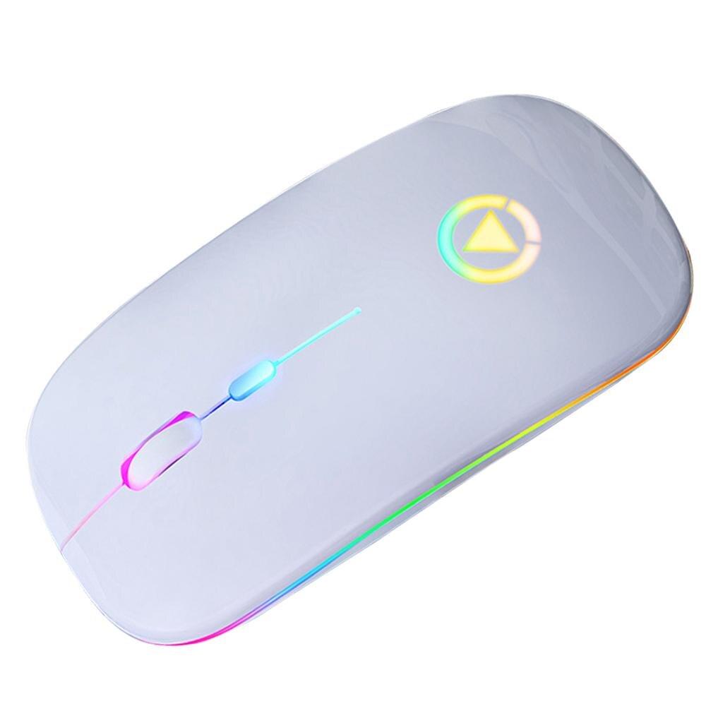 Беспроводная Бесшумная компьютерная мышь, перезаряжаемая портативная мышь, аксессуары для ноутбука, розовое золото