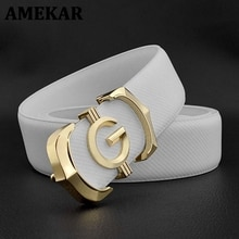 High Quality Gg letter Waist Strap genuine leather designer belts off White Cowskin solid smooth buc
