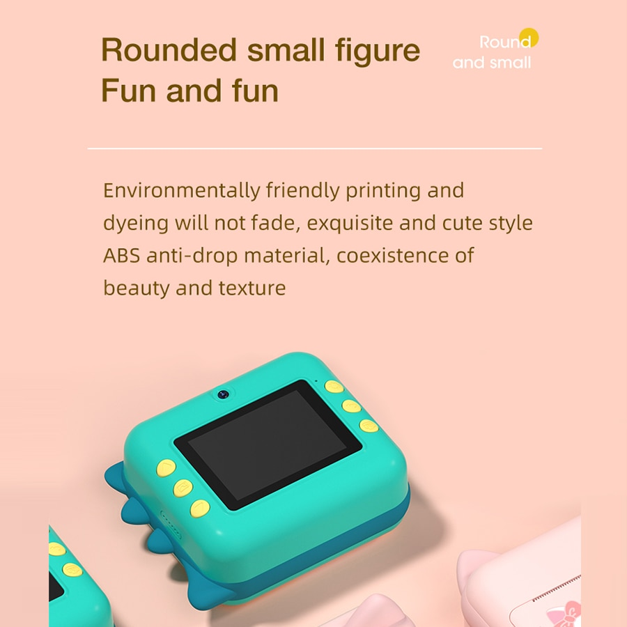 Children's Instantane Camera With Print Toys For Kids Video Photo Digital Camera Instant Print Camera Christmas Birthday Gift enlarge