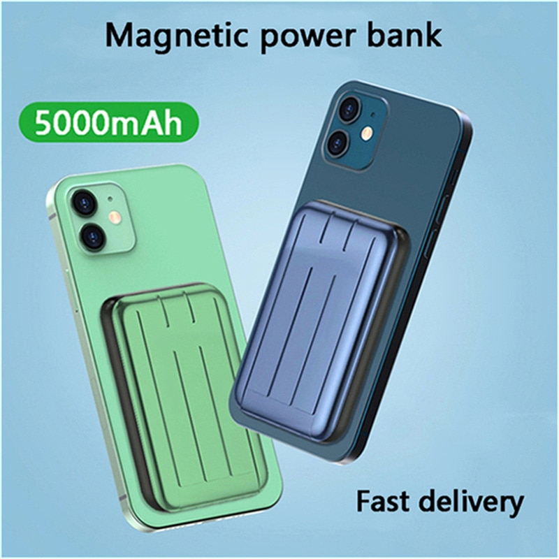 For Magsafe Chargers Magneitc Wireless Power Bank Universal External Battery For iPhone 12 Ultra-thin Magnet Charging Powerbank