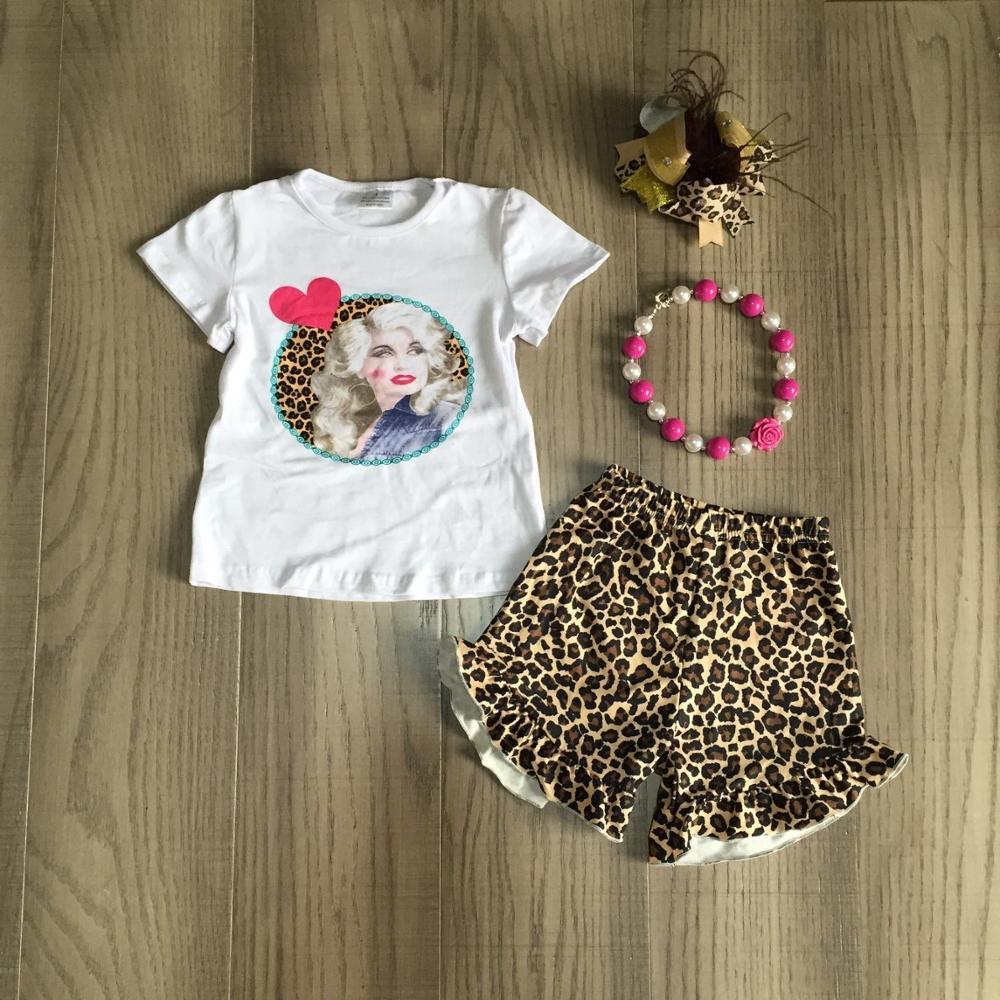 Verano niñas ropa de niños boutique leopardo serape cactus hecho leche cheetah pantalones cortos pom-pom ruffle match Accesorios