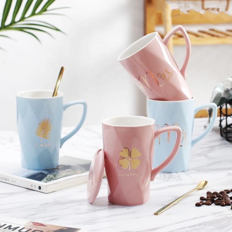 Couple Ceramic Cup Milk Juice Lemon Mug Coffee Tea Cup Husband Wife Home Office Drinkware Unique Wedding Bridesmaid Gift