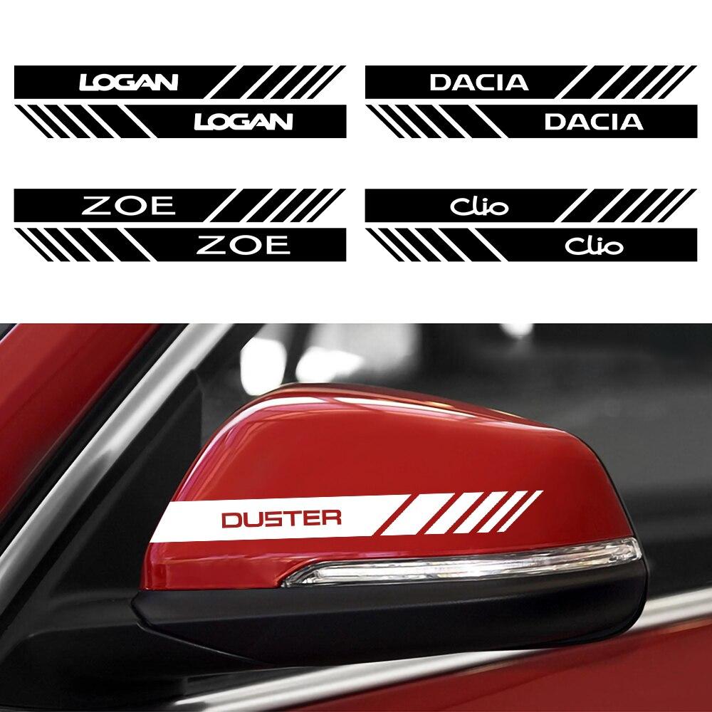 2 шт. наклейки на зеркало заднего вида автомобиля для Renault DACIA Duster Megane Scenic Logan Loguna Zoe Koleos Fluence Sandero Captur Kadjar