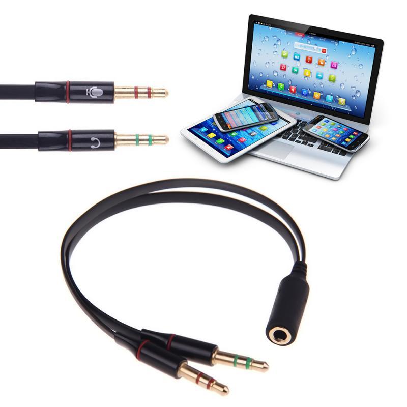 Divisor de auriculares con micrófono, adaptador de Audio de 3,5mm hembra a...