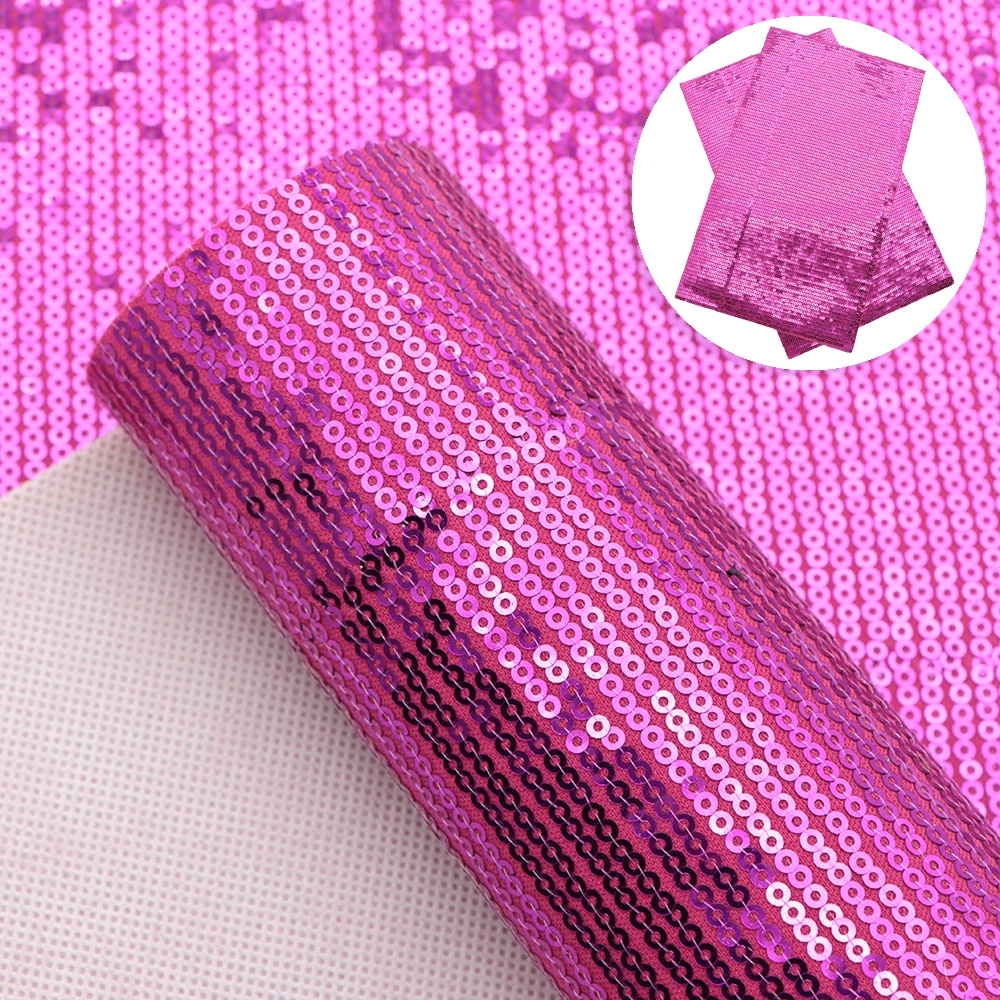 David accessories 20*33cm Sequins Plain Faux synthetic leather Fabric for Bows Leather CraftsDIY Handmade Materials,1Yc12693