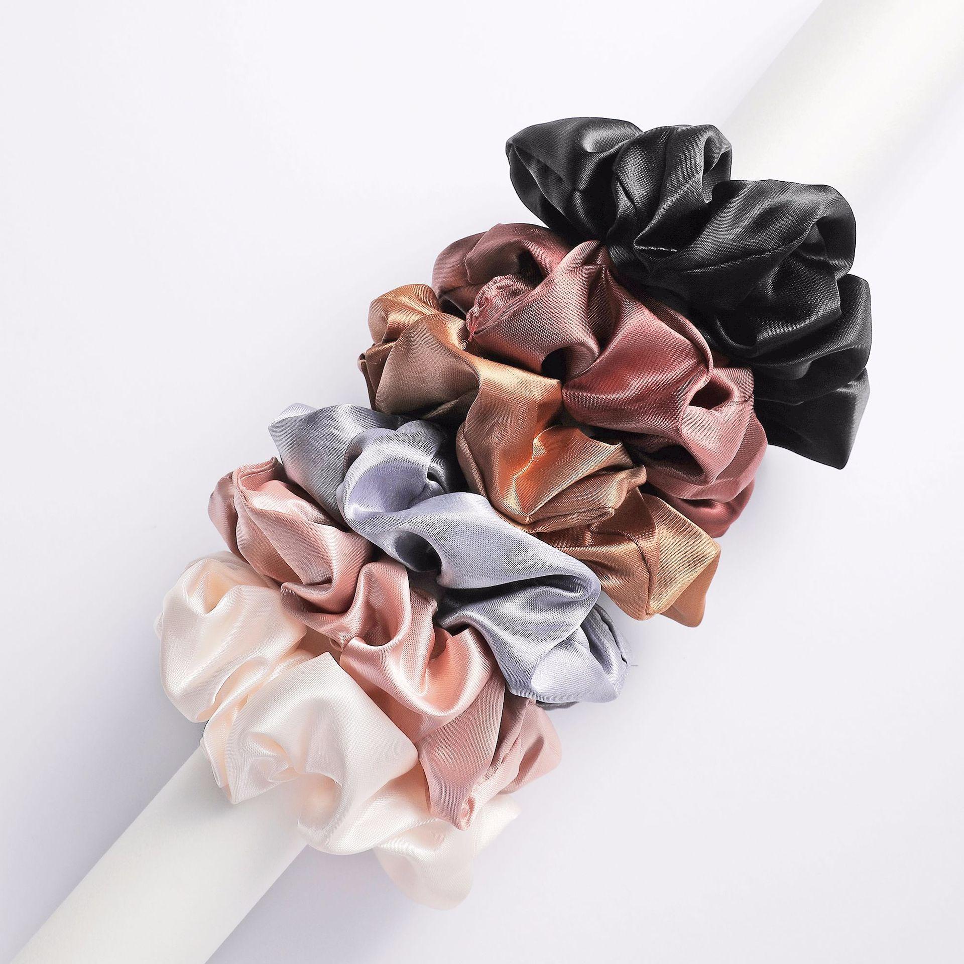 6-шт-лот-Женская-мода-девушки-шелковистая-атласная-резинка-для-волос-Однотонные-эластичные-резинки-для-волос-Простой-Элегантный-резинкой