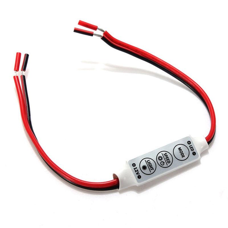 Dimming Device Light Controller Brightness LED Light Mini 3Keys Controller Single Color 12-24V Dimmer