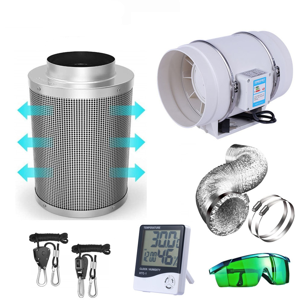 Grow Tent Complete Kit 1000W LED Grow Light+Dark Room+Filter Exhaust Kit+Hydroponics Indoor Plants Growing System Accessories enlarge