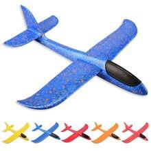 Детские игрушки модель самолета ручной бросок самолет 35 см 48 см EPP пена запуск самолета Летающий планер игрушки для детей на открытом воздухе игры