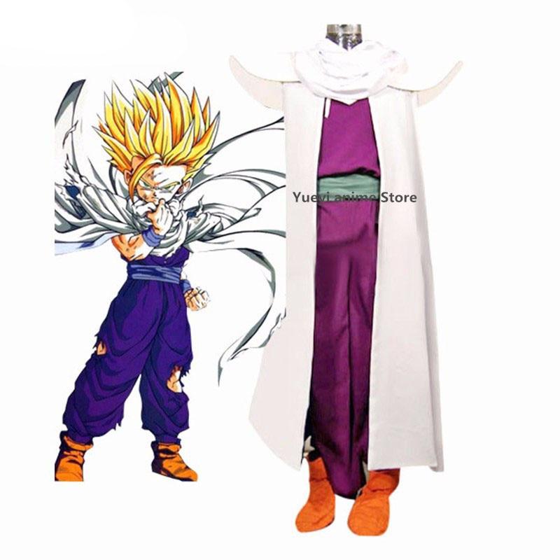 Anime Dragon Ball Son Gohan Super Saiyan jednolite przebranie na karnawał dostosowane do każdego rozmiaru