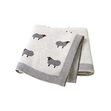 Couvertures pour bébé, 100x80cm, nappe tricotée pour nouveau-né, literie, dessin animé, alpaga, pour enfants garçons et filles