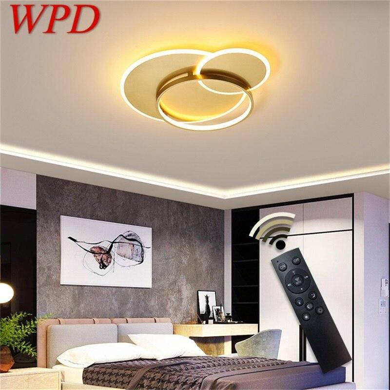 luminaria de teto led wpd com controle remoto equipamento decorativo moderno com