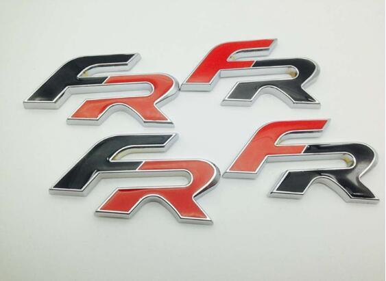 10pcs New Car Styling Metal Black Red FR Rear Boot Badge Emblem Sticker Auto Logo