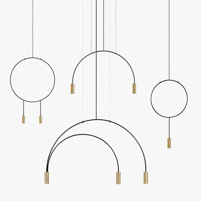 Diseñador nórdico, línea de tienda de ropa, sala, comedor, bar, dormitorio, cafetería, estiluz, candelabro negro