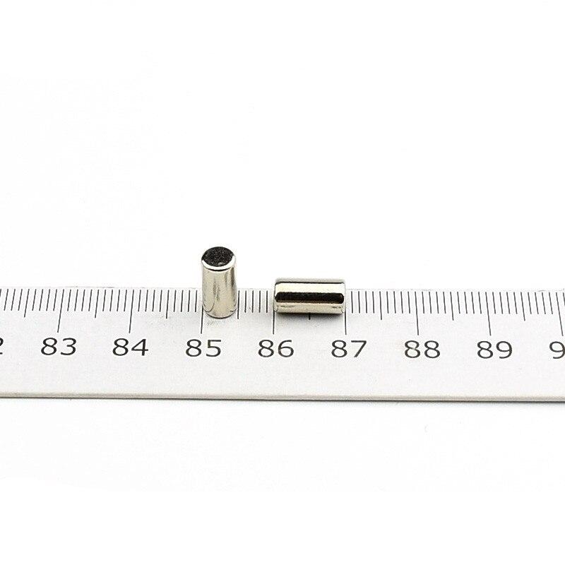 Diámetro del cilindro magnético NdFeB 5x10mm N42 varilla poderosos imanes de neodimio tierra rara imanes permanentes de laboratorio 1000 unids/lote