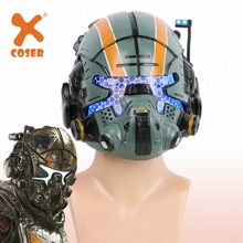XCOSER flambant neuf Titanfall 2 Jack Cooper casque jeu Cosplay pleine tête masque hommes Cool fête Cosplay accessoires casque avec lumière LED