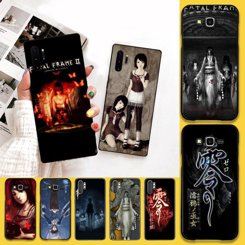 CUTEWANAN juego Horror Fatal Frame de la cubierta de la caja del teléfono para Samsung Nota 7 8 9 10 pro Galaxy J7 J8 J6 Plus 2018