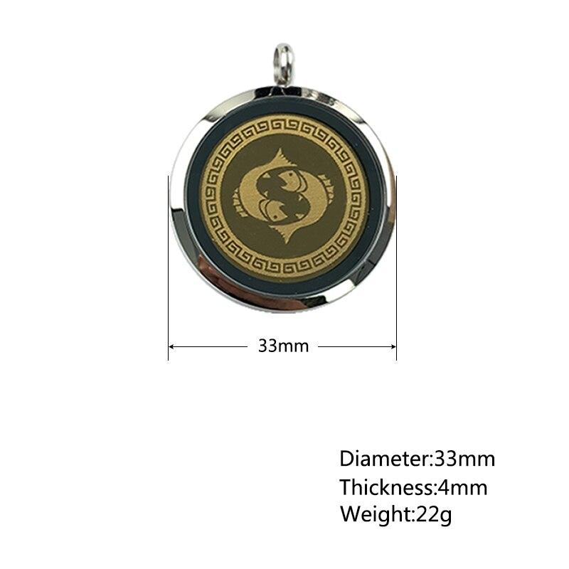 Pisces-قلادة مع قلادة طاقة EMF للرجال والنساء ، مع أيونات سالبة ، مجوهرات