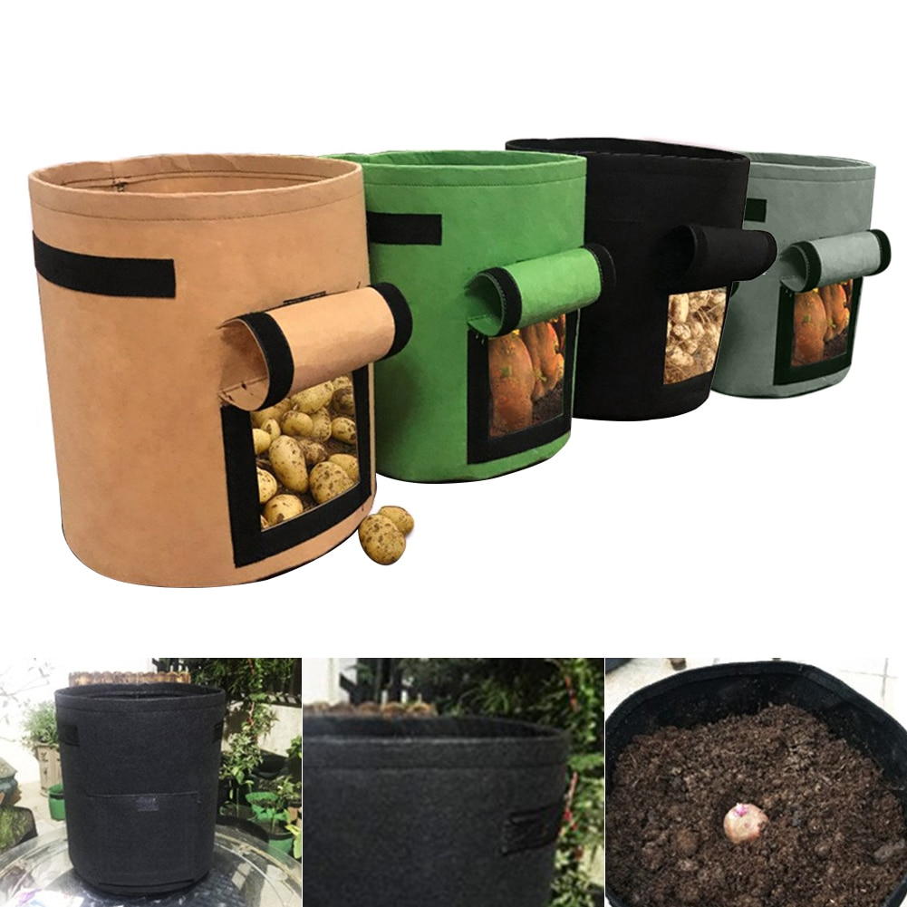 Gemüse Pflanzung Wachsen Tasche DIY Kartoffel Wachsen Pflanzer Tuch Tomaten Blume Pflanzen Container Taschen Verdicken Hof Topf Garten Liefert