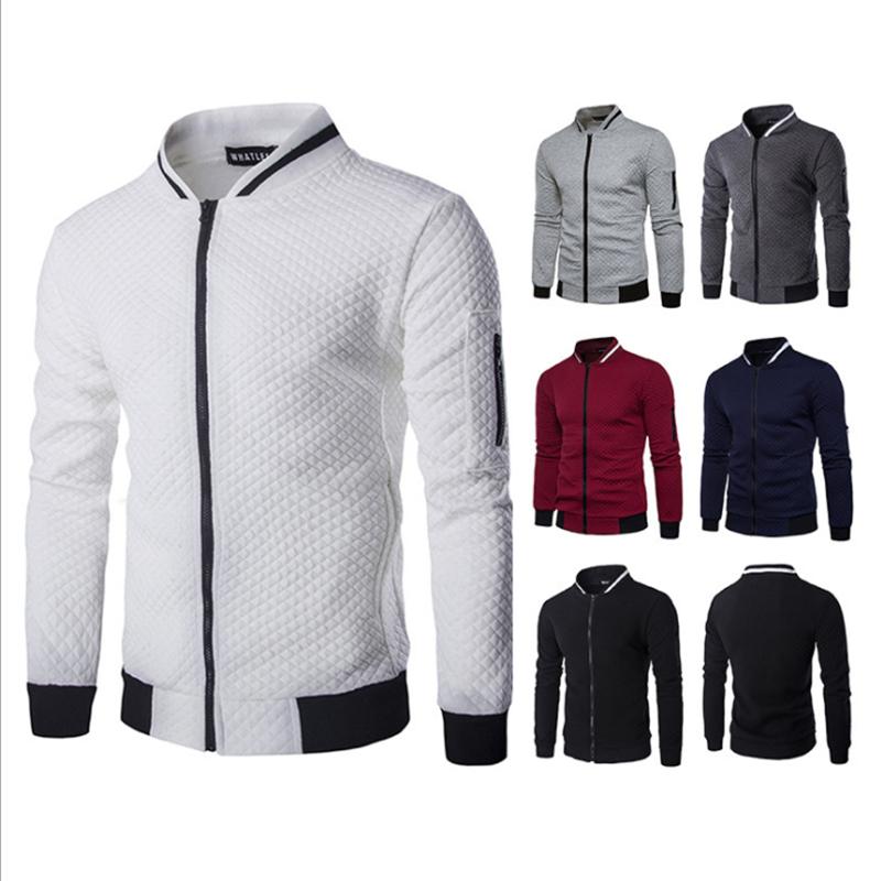Мужская бейсбольная куртка на молнии, с круглым вырезом, без воротника, толстовка, стиль Харадзюку, куртка для колледжа, повседневная одежда...