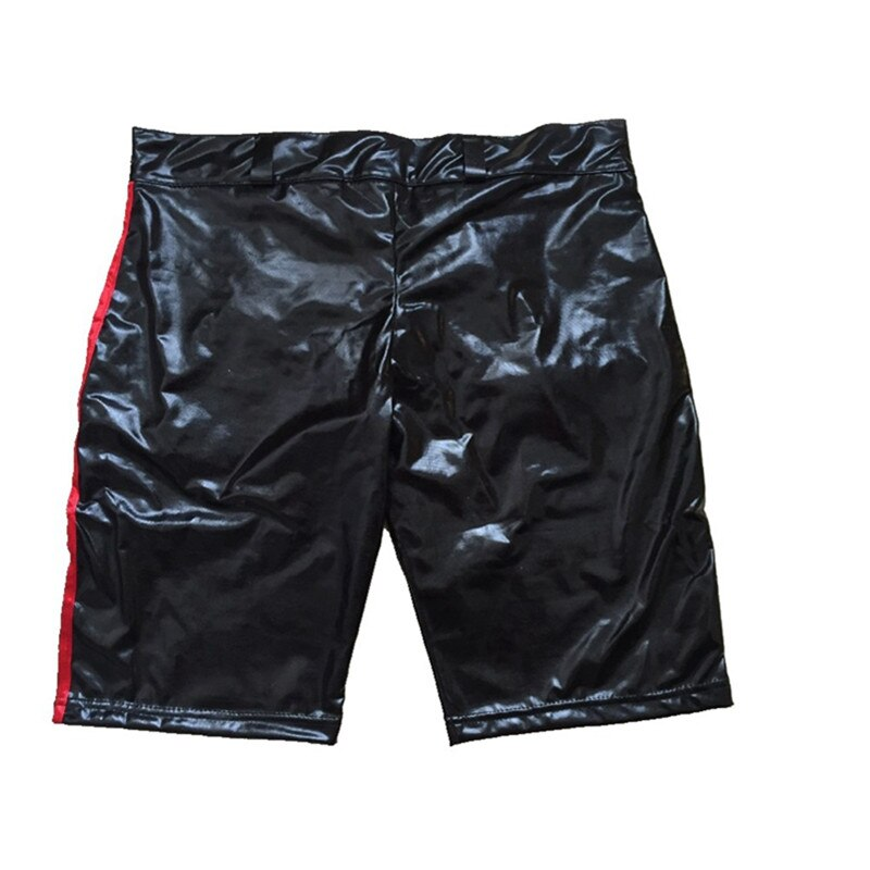 wetlook Faux Leather Open Crotch hot pants Sexy lingerie pvc pants latex leggings Clubwear Men Erotic gay fetish pole dance Wear