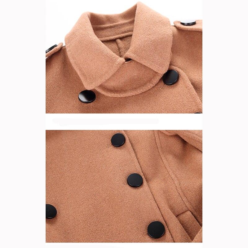 2020 Teenager Boys Girls Woolen Coat/jacket Toddler Kids Outerwear Children Winter Wool Woolen/trench Coat Teen Outfits 10 12 14 enlarge
