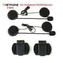 Casque découte et accessoires à Clip   2 pièces, Microphone, casque découte, casque Bluetooth, casque dinterphone, seulement combinaison pour V6/V4 Moto
