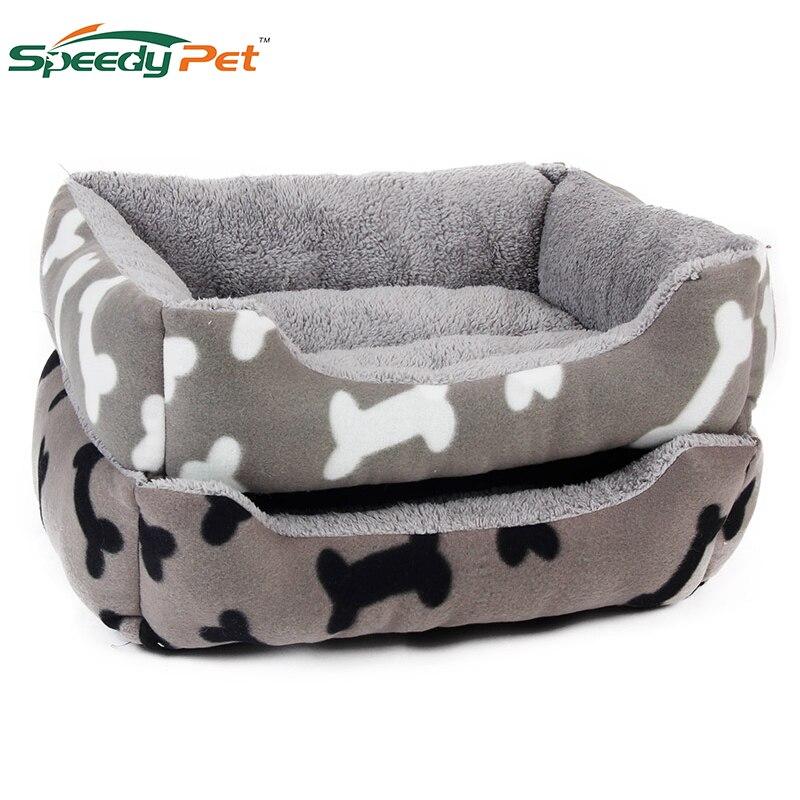 САМОНАГРЕВАЮЩАЯСЯ ортопедическая роскошная кровать для собак и кошек прямоугольная кровать для домашних животных с принтом собачьей лапы зимние кровати для кошек товары для домашних животных