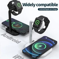 2 in 1 magnetic wireless charger 15w fast charging station stand dock for iphone 12 chargers for apple watch airpods practical