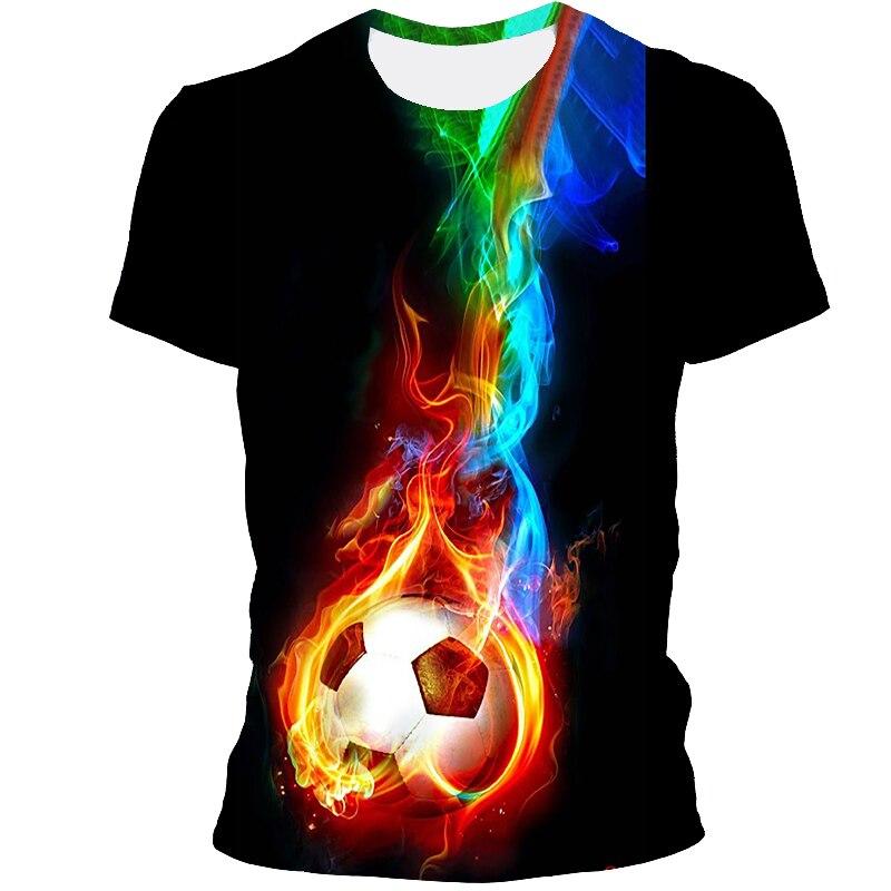 Camiseta con estampado 3D para hombre, Camiseta deportiva de fútbol de Barcelona,...