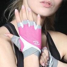 Professionnel femmes fitness sports demi doigt équitation gymnase yoga haltérophilie équipement de musculation respirant antidérapant gants