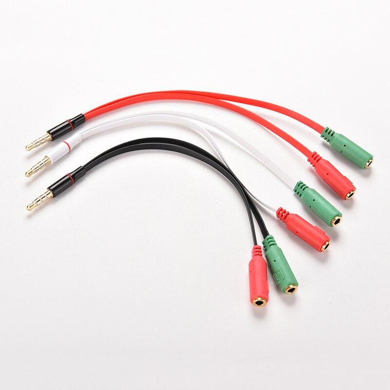1 macho a 2 hembra Mic auricular Y Cable del divisor del...