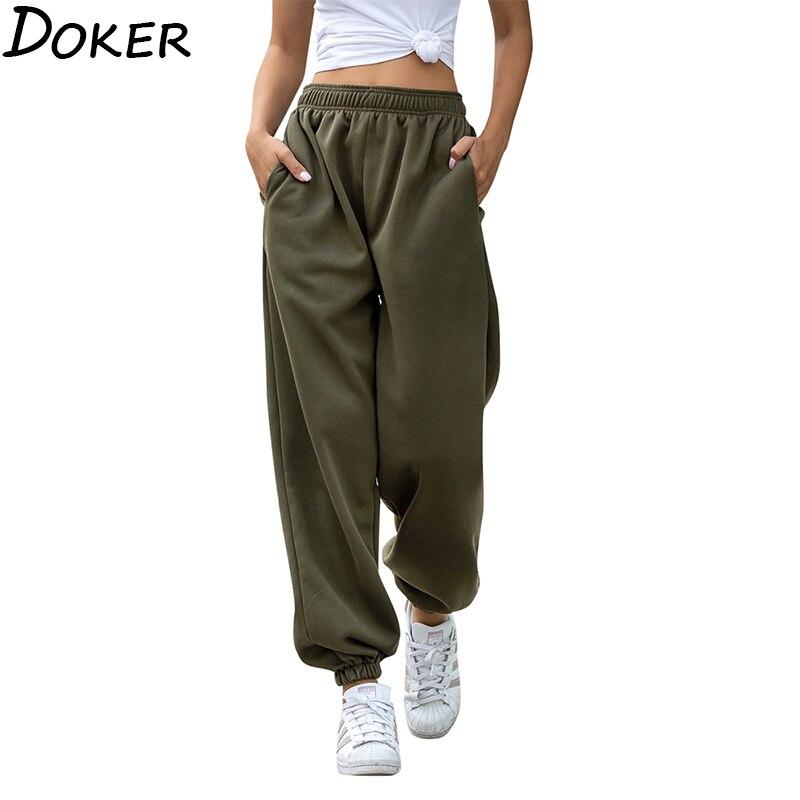 2020 feste Hohe Taille Hosen Frauen Kleidung Mode Casual Streetwear Frauen Bleistift Hosen Plus Größe Lose Schweiß Hosen Jogger Frauen