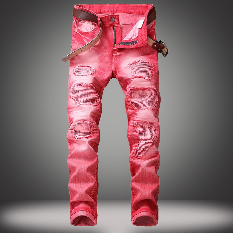 Jeans Pants Ripped Motorcycle Pants Mens Jeans  Jeans Men  Men Jeans  Men Designer Jeans for Men  Boyfriend Jeans  Moto & Biker