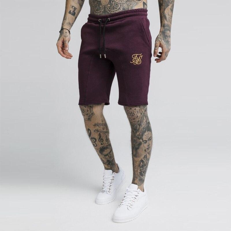 ¡Novedad de verano! Pantalones cortos Sik de seda para hombre, pantalones de chándal ajustados para fisicoculturismo, pantalones cortos deportivos para hombre