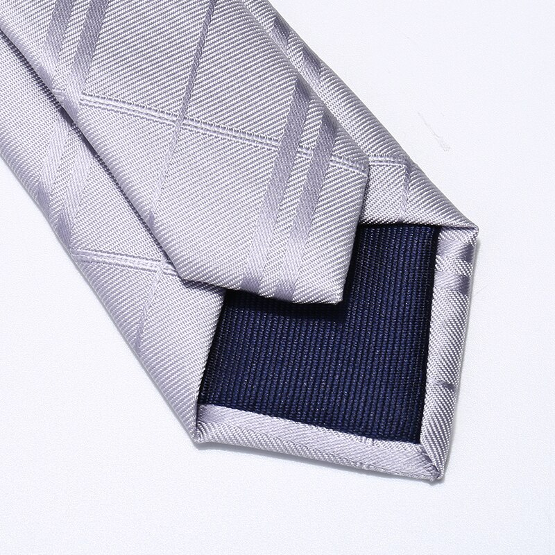 2019 Brand New Fashion High Quality Men's 5CM Slim Sliver Striped Neck tie Work Formal Suit Party Neck Tie for Men with Gift Box