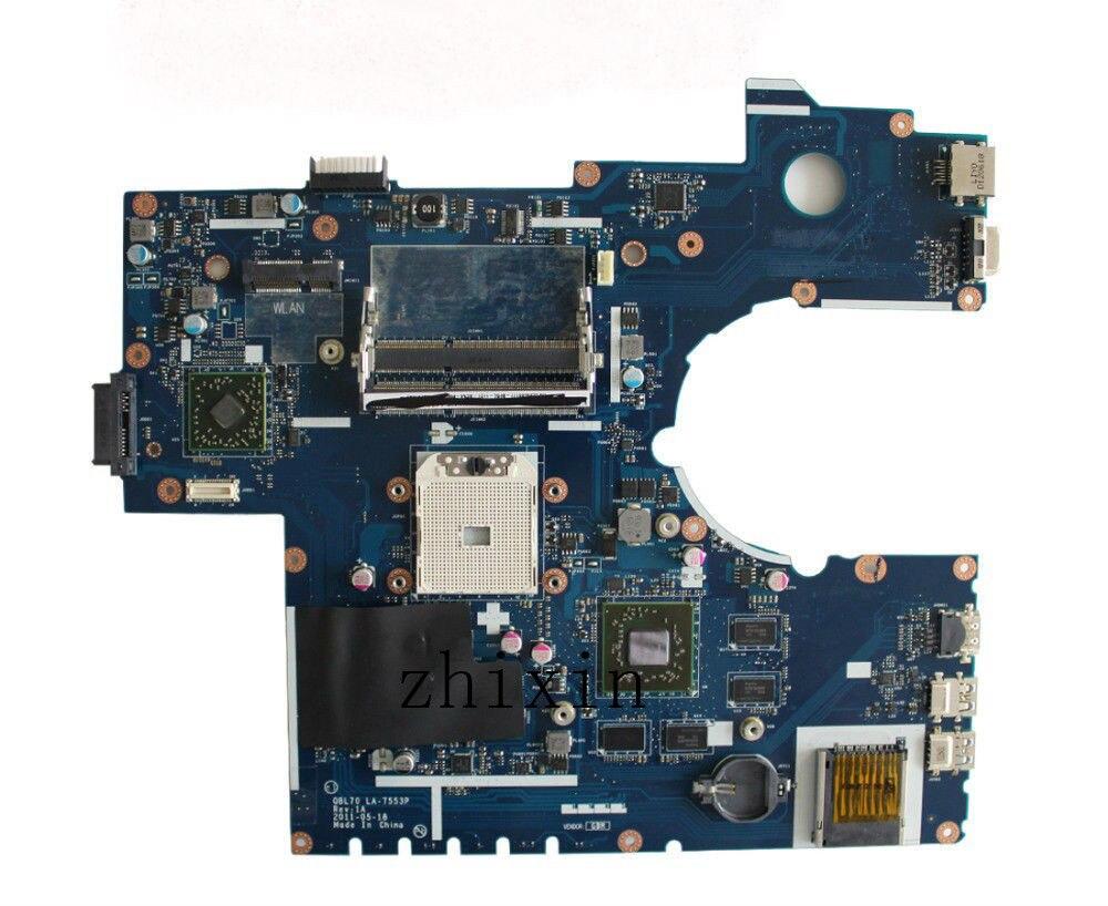 Yourui para ASUS X73T K73TA X73TA K73TK placa base de computadora portátil K73T placa base K73T placa base QBL70 LA-7553P HD7670 1G