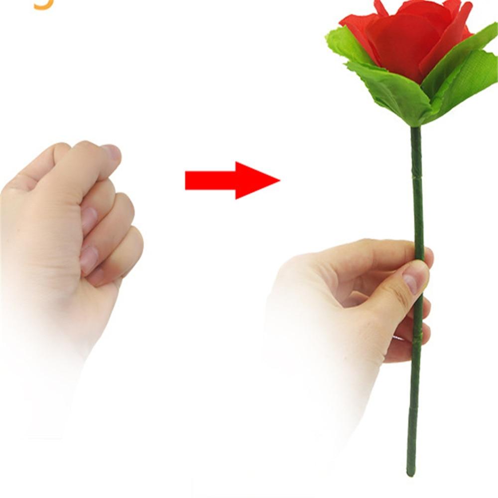 Dobrável rosa aparecendo truques mágicos brinquedos para crianças flor aparecendo desaparecer de repente estágio flores rua ilusão brinquedos mágicos
