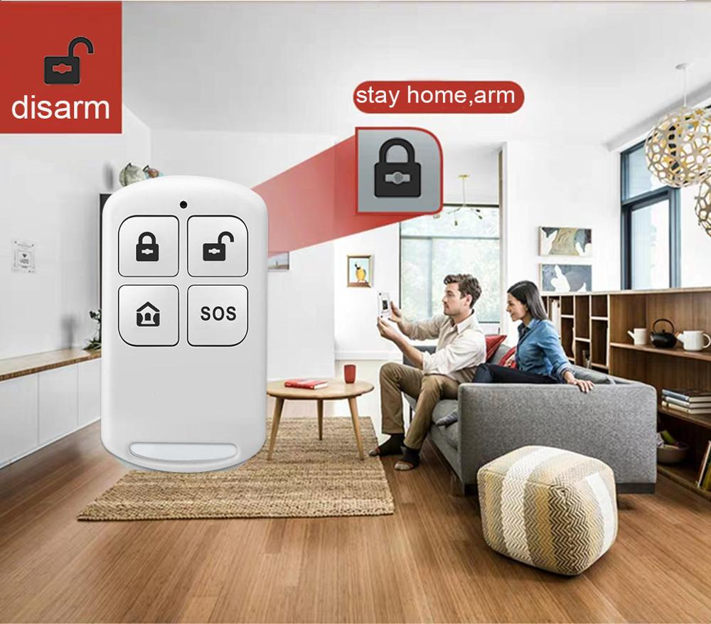 PGST Wireless Home WIFI GSM Security Alarm System Burglar Home Security With PIR Motion Sensor Detector Burglar Alarm System enlarge