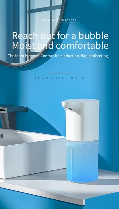 Distributeur automatique de savon sous forme de mousse de 350ML, recharge USB, hygiène sans Contact, traitement rapide, longue durée de vie de la batterie, Machine à laver les mains