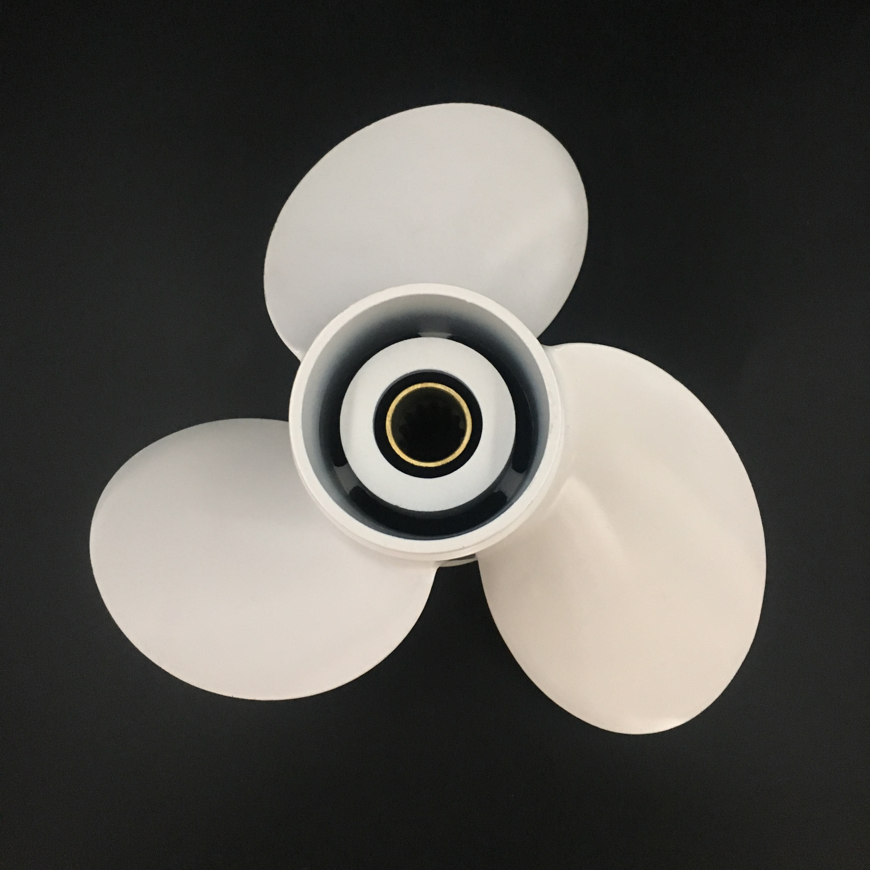 Boat propeller suit for Yamaha 10 3/8x13 aluminum prop 40-55HP 3 blade 13 tooth RH enlarge