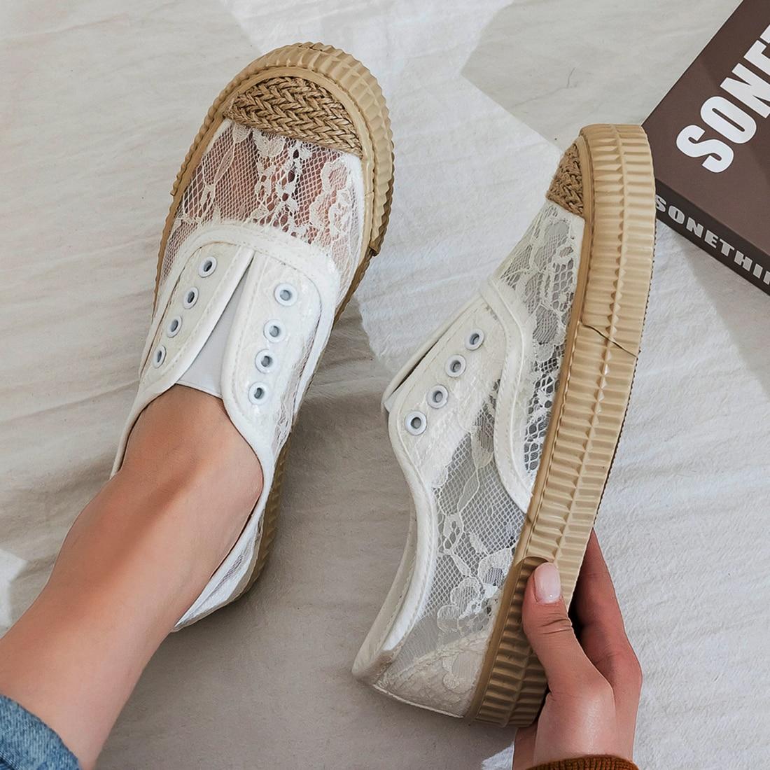 Кроссовки женские на платформе, Вулканизированная подошва, эспадрильи, повседневная обувь для ходьбы, корейский стиль, плоская подошва, бел...