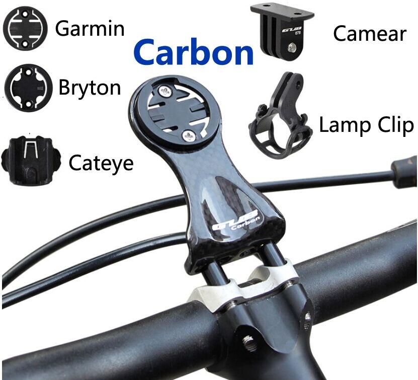 Углеродное крепление Garmin Edge 200 520 820 Cateye велосипедный держатель для компьютера Bryton Rider 310 410 530 велосипедный фонарь для велосипеда с зажимом для камеры