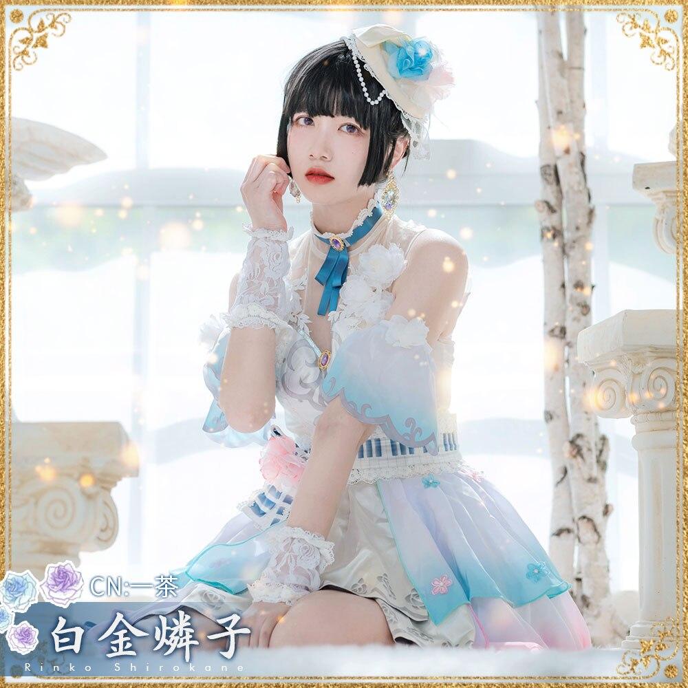 ¡Traje Cosplay Anime sueño de estallido! Shirokane Rinko Roselia vestidos de Navidad envío gratis CG647