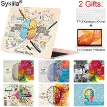 Sykiila pour Macbook Air 13 pouces 11 housse Pro 13 15 16 12 coque rétine écran clavier protecteur barre tactile Art impression cerveau